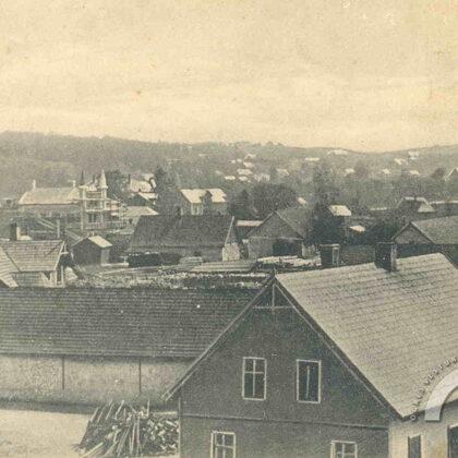 Ogres ciems. Fonā Pārogres reljefs, Grantskalni. 20. gadsimta sākums.