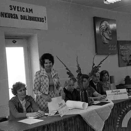 Žūrijas vadītāja Rīgas telefona un telegrāfa stacijas vecākā inženiere Vanda Ose