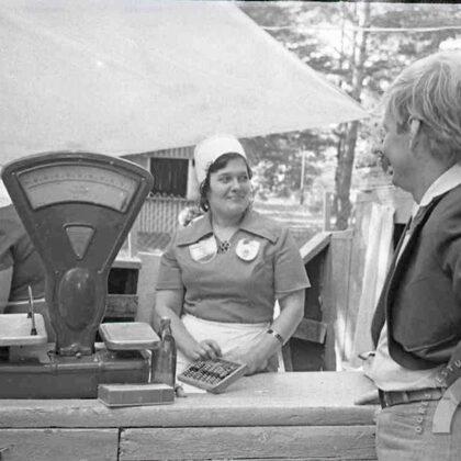 Izbraukuma tirdzniecība 70. gadu beigās
