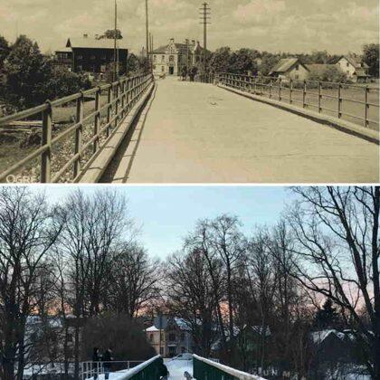 Šosejas (tagad komunikāciju) tilts. 20. gs. 20. gados un 2021.gadā