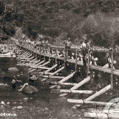 Laipas pār Ogres upi un peldētava, 20. gs. 30. gadi