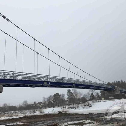 Jaunais gājēju tilts, būvniecība, 2021. gads