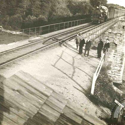Ogres dzelzceļa tilts, 1931. gads