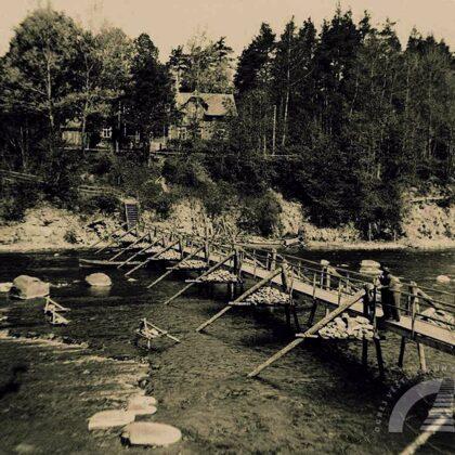 Laipas pār Ogres upi 20. gs. 20. gadu beigās