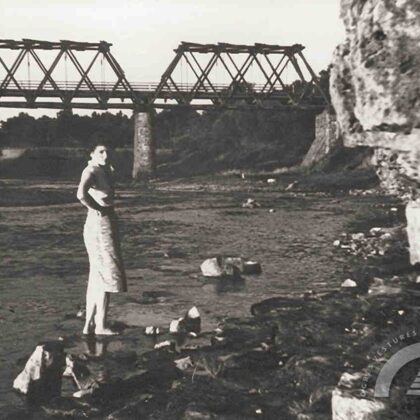 Šosejas tilts ar pagaidu koka konstrukcijām, 20. gs. 50. gadi