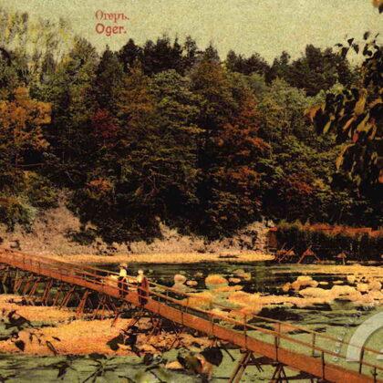 Laipas pār Ogres upi 20. gs. sākumā