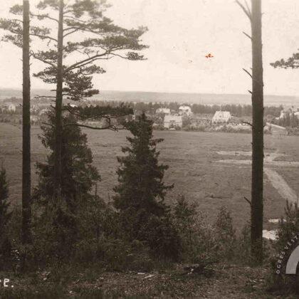 Jaunogres panorāma no Zilā kalna. 1928. gads