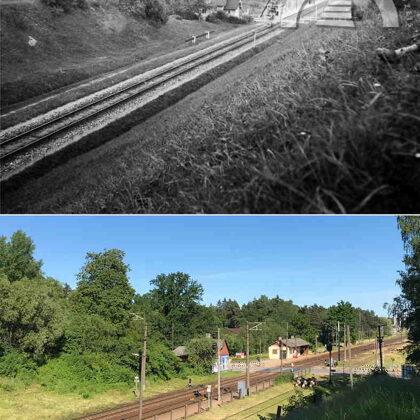 Skats no Saules kalna uz Jaunogres staciju. 20. gadsimta 20. gadu beigas un 2021. gads