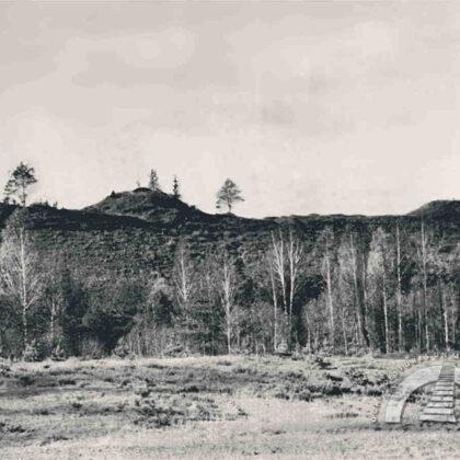 Ķentes kalns no austrumu puses. 20. gadsimta 50. gadi