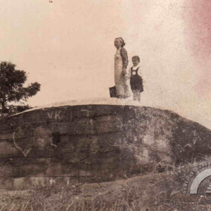 1. pasaules kara blindāža Ķentes kalnā. 1937. gads